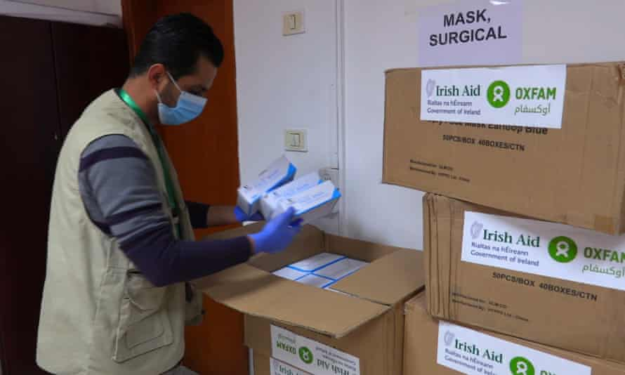 Coronavirus equipment provided by Oxfam and Irish Aid arrives in Gaza to be distributed in quarantine centres
