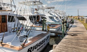 Reel good time: fishing boats for hire, Hatteras Island, Outer Banks.