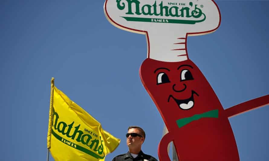 nathan's famous hot dog mascot