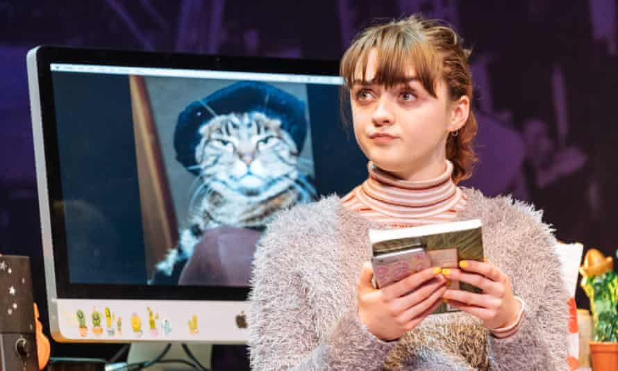 Maisie Williams as Caroline in I and You at Hampstead Theatre.