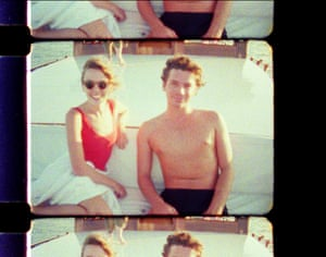 Kylie Minogue and Michael Hutchence on a yacht