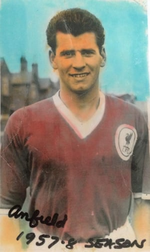 Frank Lockey during his playing days with Liverpool.