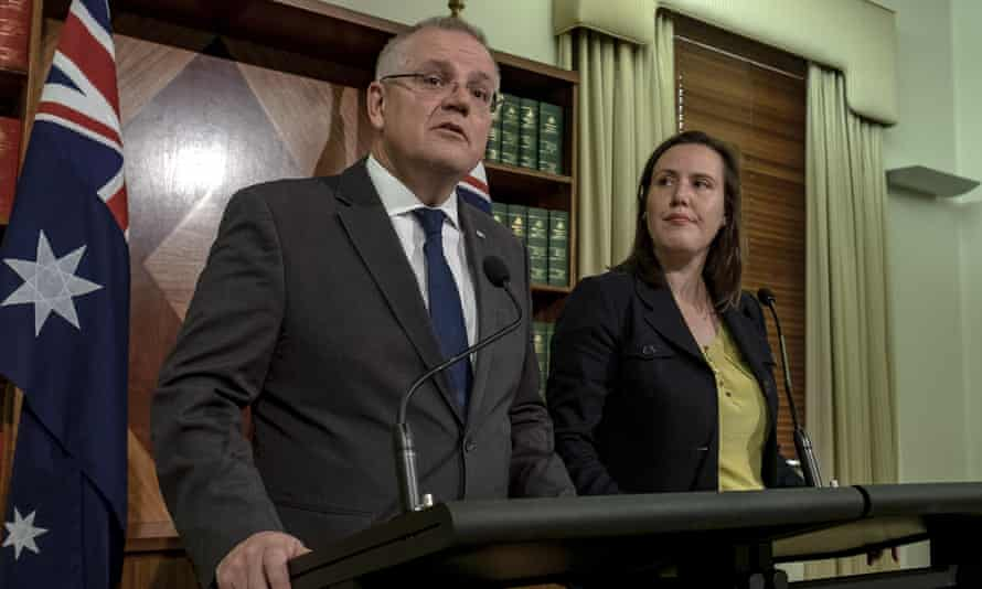 Scott Morrison said Kelly O'Dwyer, right, was taking a 'proactive' role in looking into alleged bullying in the party room.