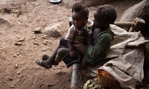Thousands of people from the Nuba Mountains have been living in caves to escape airstrikes.