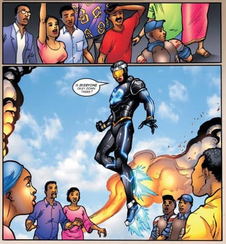 A panel from EXO, a superhero in Lagos.