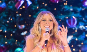Mariah Carey performing her Night of Joy and Festivity show