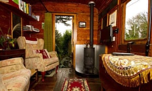 Old Luggage Van accommodation, St Germans, Cornwall.
