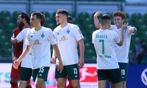 Werder Bremen escaped automatic relegation with a 6-1 win over Cologne.