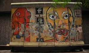 A part of the Berlin Wall in New York City
