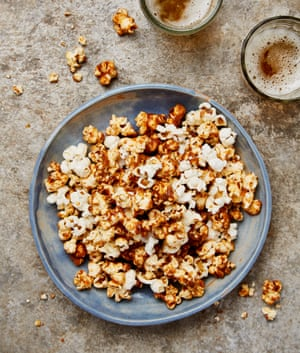Pop star: Yotam Ottolenghi's spicy dried shrimp and caramel popcorn.