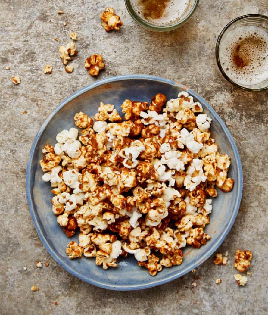 Pop star: Yotam Ottolenghi's spicy dried shrimp and caramel popcorn.