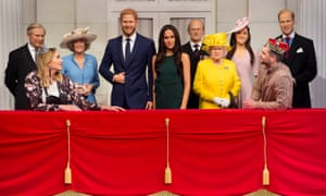 Madame Tussauds' figures of the royal family