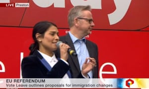 Priti Patel and Michael Gove