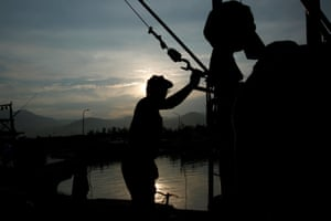 There used to be 300 boats using the traditional fire fishing method but now there are only three, according to the fishermen's association in Jinshan district, north of Taipei.