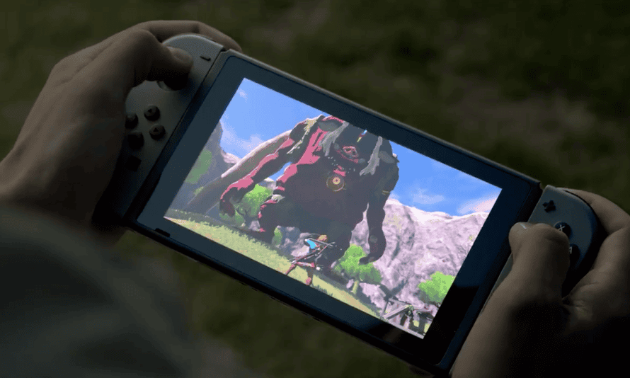 The new Zelda game on the Nintendo Switch.