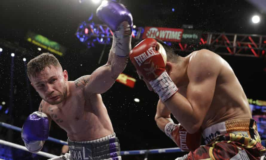 Carl Frampton lost for the first time in his career against Léo Santa Cruz earlier this year.