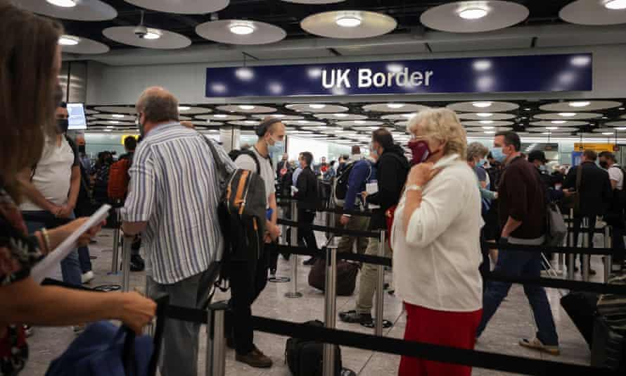 UK border at Heathrow airport, London, June 2021.