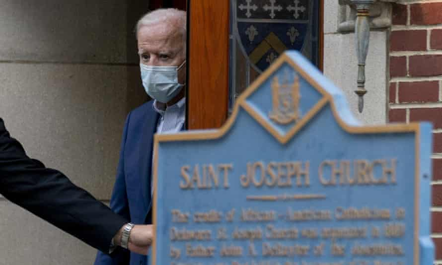 Joe Biden leaving a church