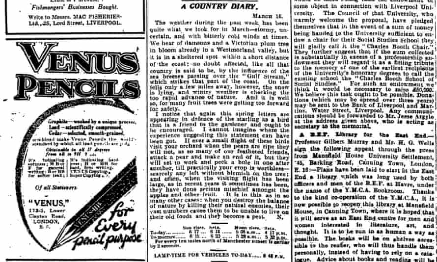 The Guardian, 17 March 1920.