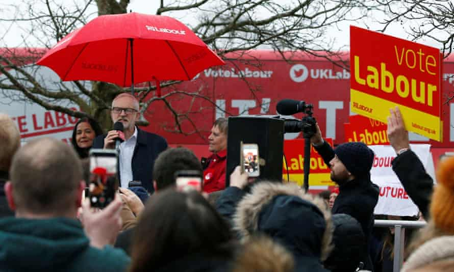 Jeremy Corbyn campaigns in Bolton two days before the general election.