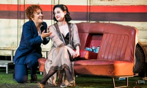 Julia Sporsén (the Composer) and Jennifer France (Zerbinetta) in Ariadne auf Naxos.