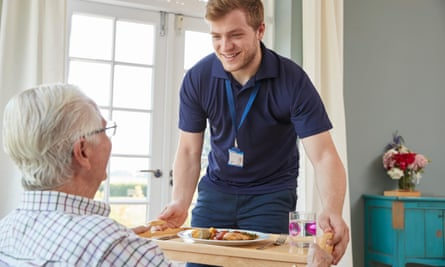 Care worker and man