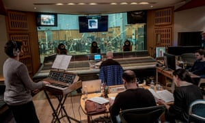 Inside the control room at Abbey Road