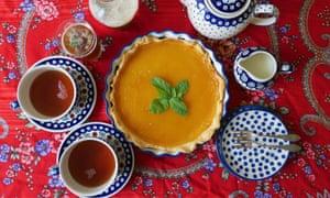 A lemon pie recipe, from the Leo Tolstoy cookbook