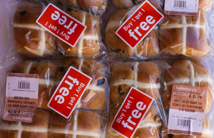 Hot Cross Buns - buy one get one free.