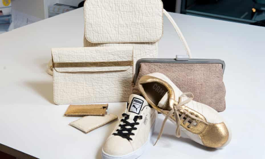 Bags, phone cases and shoes made from Piñatex.
