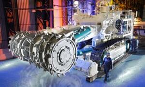 A Rolls-Royce seabed cutter.