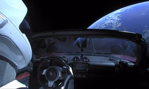 Elon Musk's tribute … SpaceX's launch of a Tesla Roadster – it had a copy of the book in the glove compartment.