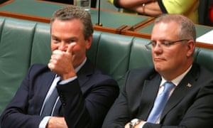 Education minister Christopher Pyne during question time in the house of representatives this afternoon, Tuesday 17th March 2015.