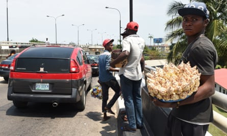 A man sells peanuts last month on the streets of Lagos