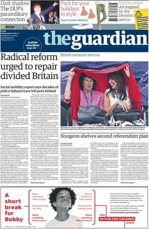 Guardian front page 28/06/17