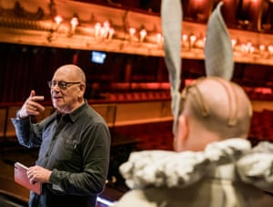 Director/Designer Antony McDonald during rehearsals for the world premiere staging of Gerald Barry's Alice's Adventures Under Ground at London's Royal Opera House