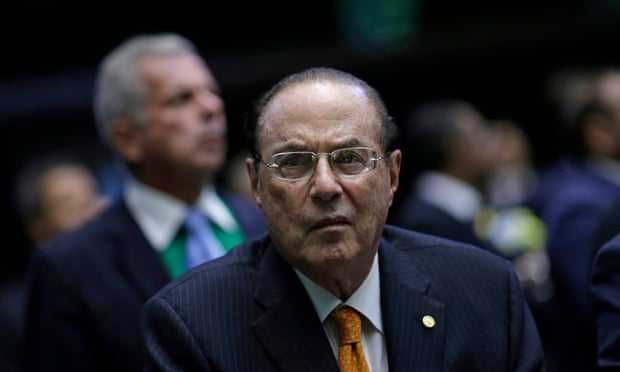 Paulo Maluf listens to the debate over the impeachment of President Dilma Rousseff in Brasília, 2016.