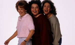 Roseanne stars Natalie West, Roseanne Barr and Laurie Metcalf.