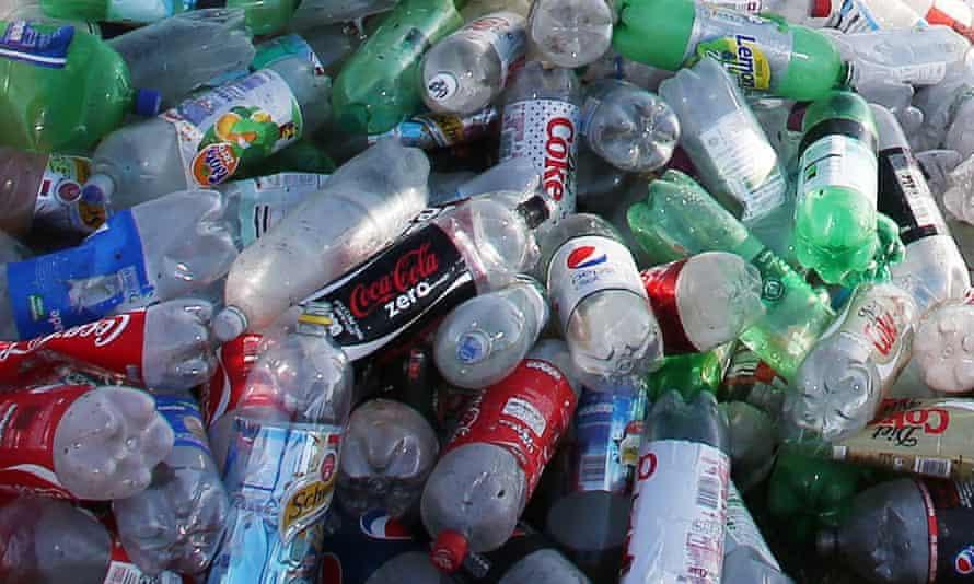 A pile of plastic bottles