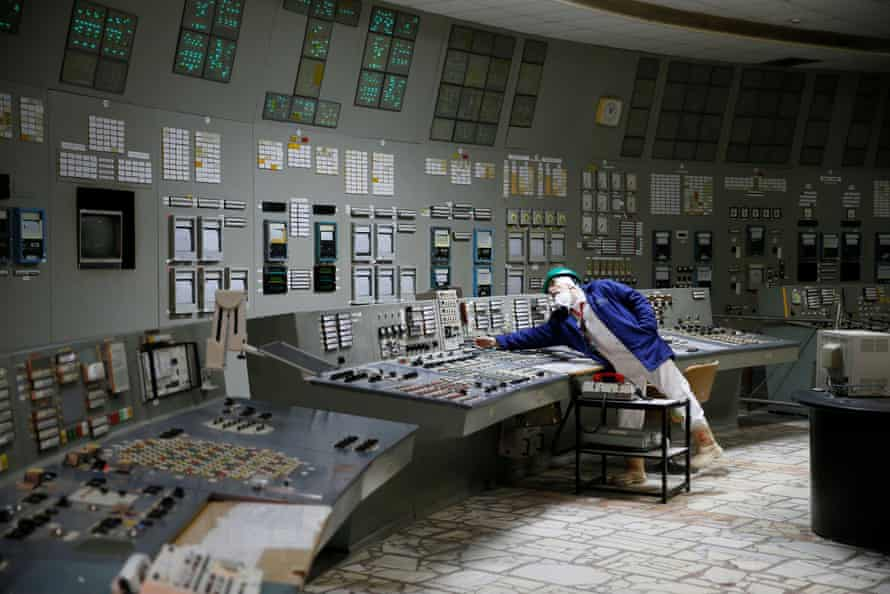 Inside a control center of the third reactor in Chernobyl.