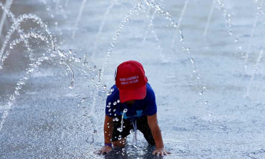 Boy in Trump cap