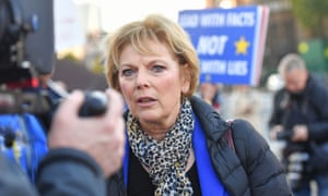 Anna Soubry outside parliament in London