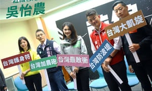 Hung Tzu-Yung, Enoch Wu, Lai Pin-Yu, Chen Bo-wei, and Freddy Lim are hoping to galvanise support among young people.