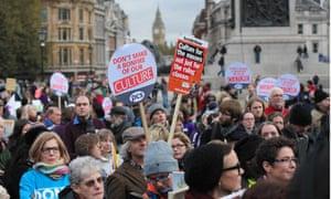 Rally at Trafalgar Square