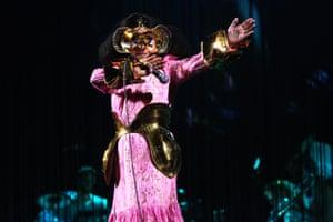 Oslo, Norway. Björk performs during her Cornucopia tour at the Oslo Spektrum arena