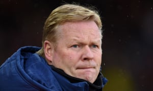 Ronald Koeman looks worried the future might not be all that pretty for Southampton.