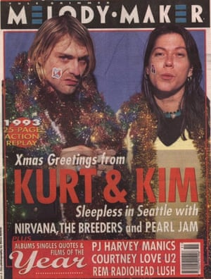 Kim shares the Christmas 1993 Melody Maker cover with fan Kurt Cobain