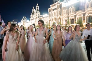 School leavers in Moscow's Red Square
