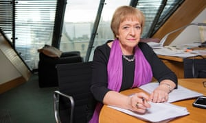 Margaret Hodge MP in her Westminister office. Photo by Linda Nylind. 7/3/2019.