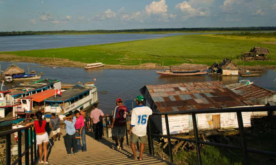 The Amazon at the port in Iquitos, Peru.
